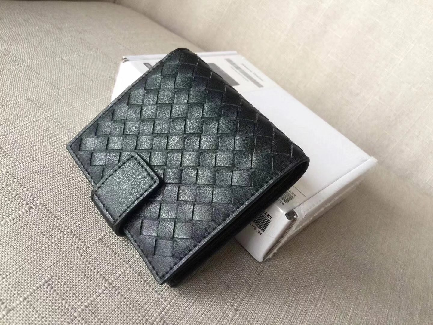 Bottega Veneta Intrecciato Nappa Leather Mini Wallet Black