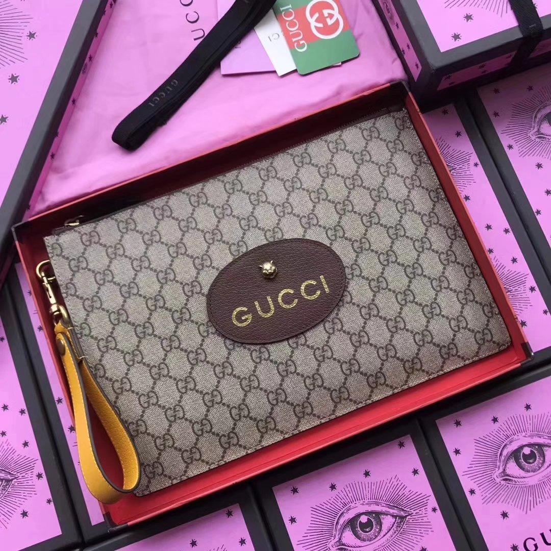 Gucci 473956 GG Supreme Men Neo Vintage GG Supreme Pouch