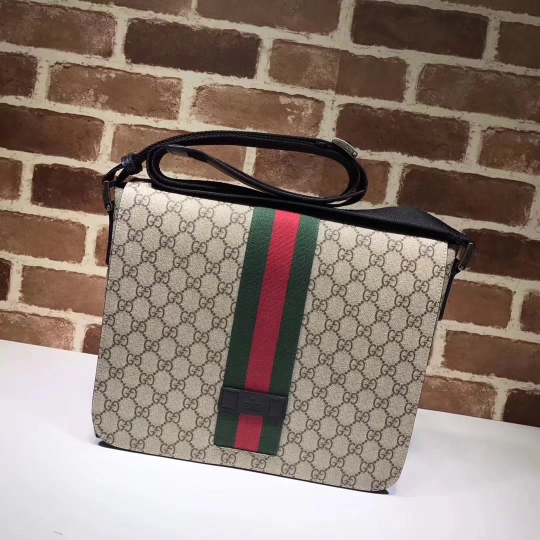 Gucci 475432 GG Supreme Men Messenger Bag