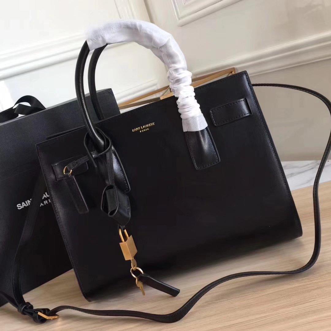Saint Laurent 32cm Sac De Jour Souple Duffle Bag in Black