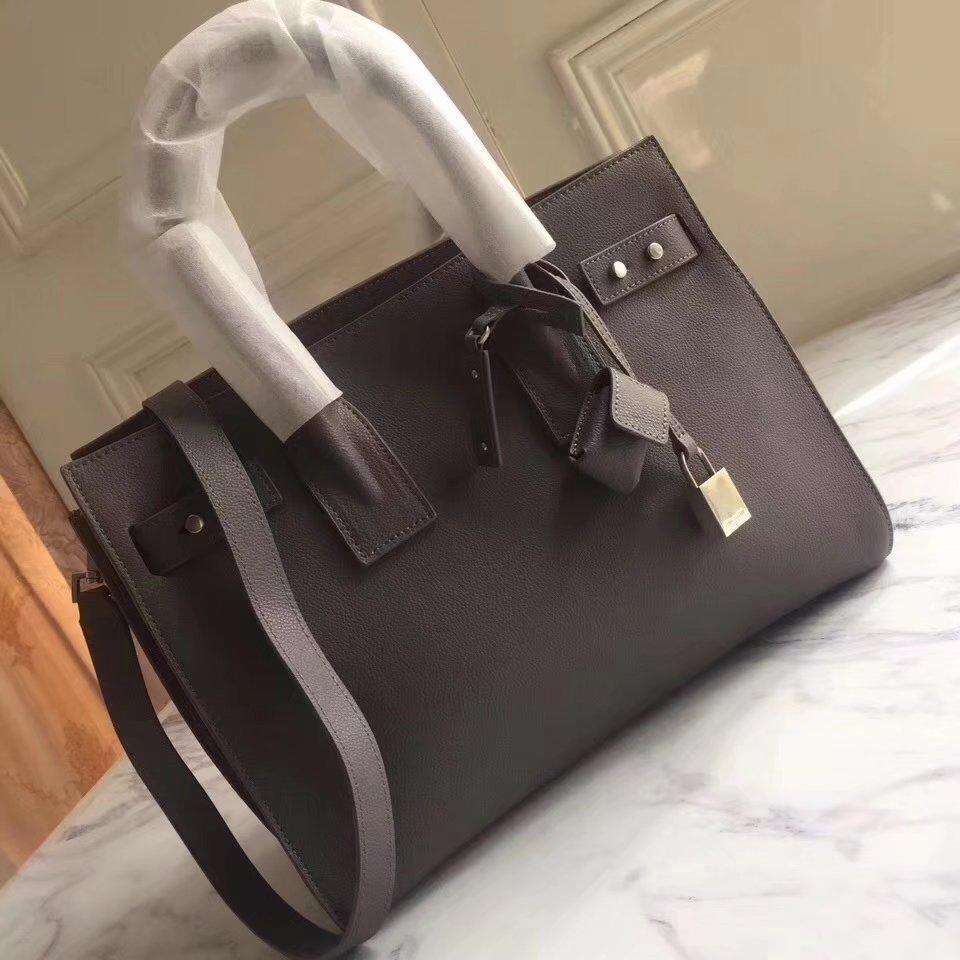 Saint Laurent 32cm Sac De Jour Souple Duffle Bag in Grey
