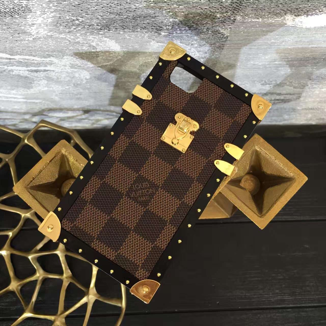 2017 Louis Vuitton Petite Malle iPhone 7/6 Case Brown