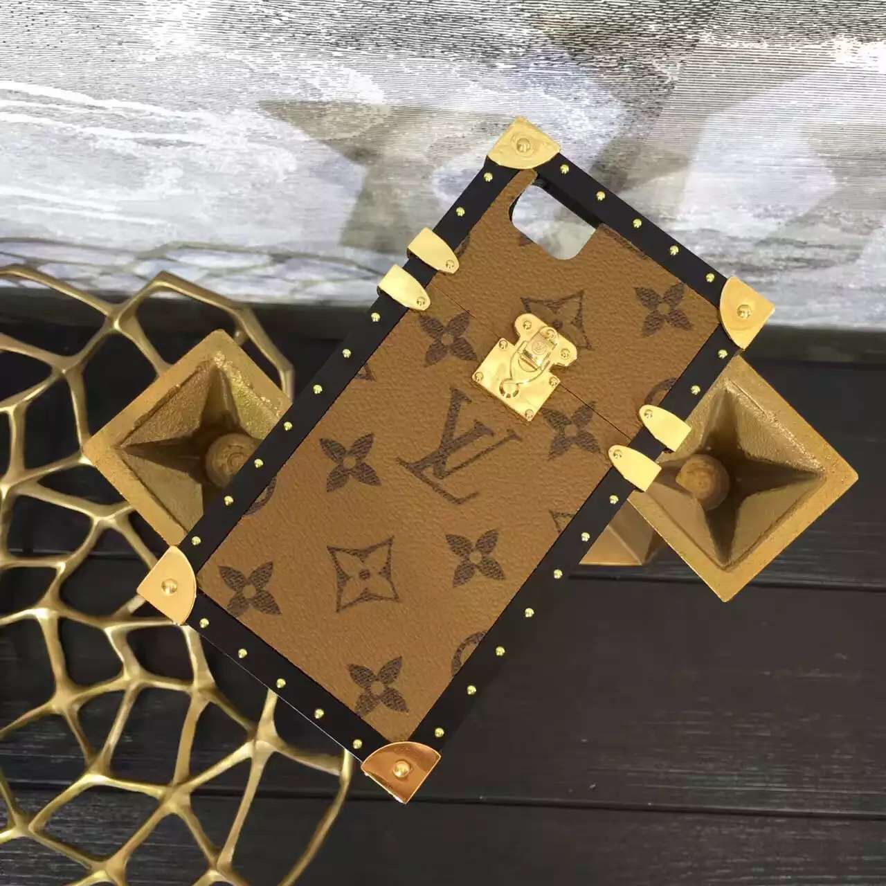 2017 Louis Vuitton Petite Malle iPhone 7/6 Case Yellow