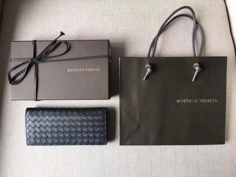 Bottega Veneta Men Calf Leather Continental Wallet