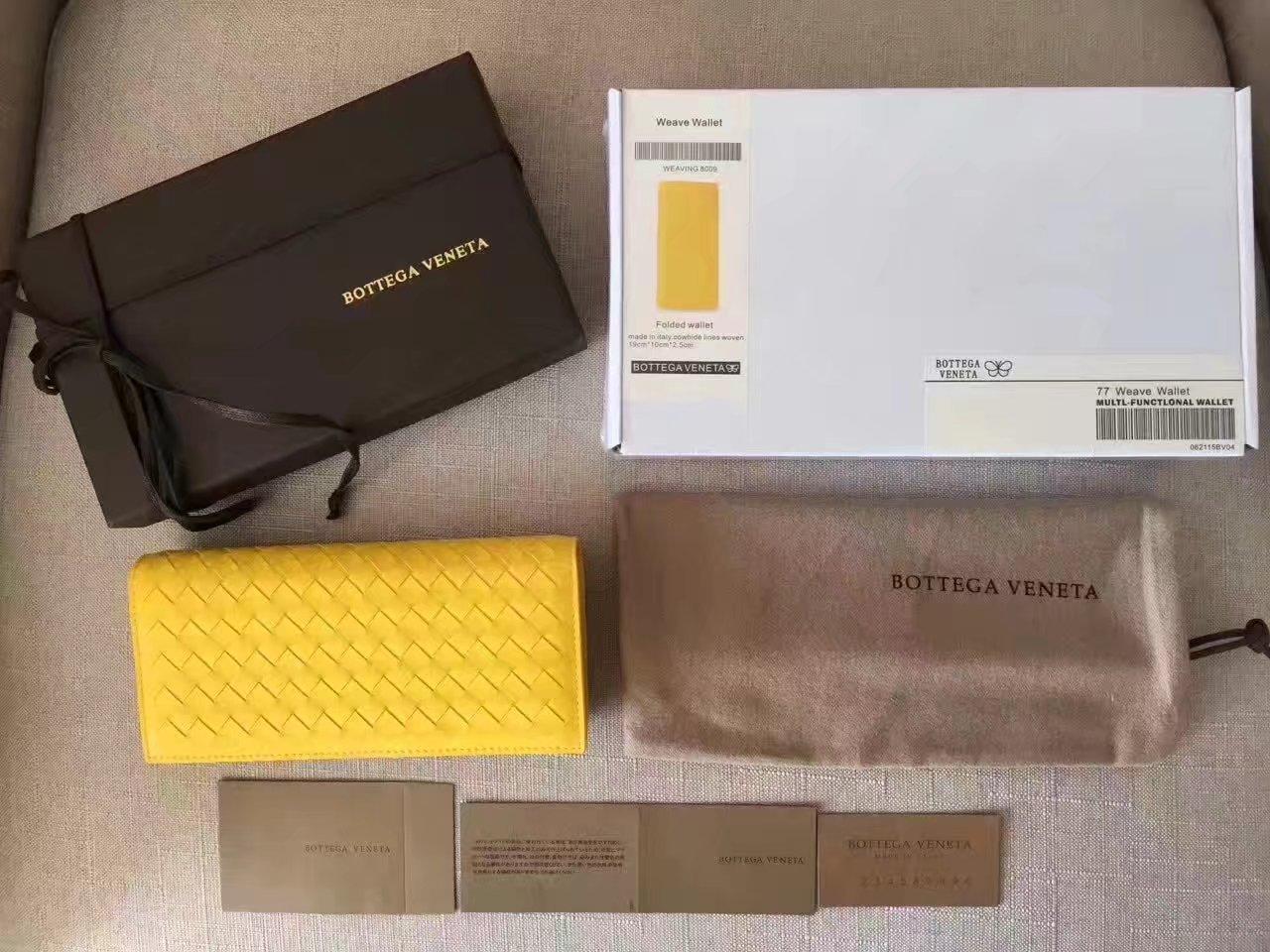 Bottega Veneta Men Wallet 8 Credit Card Slots Yellow