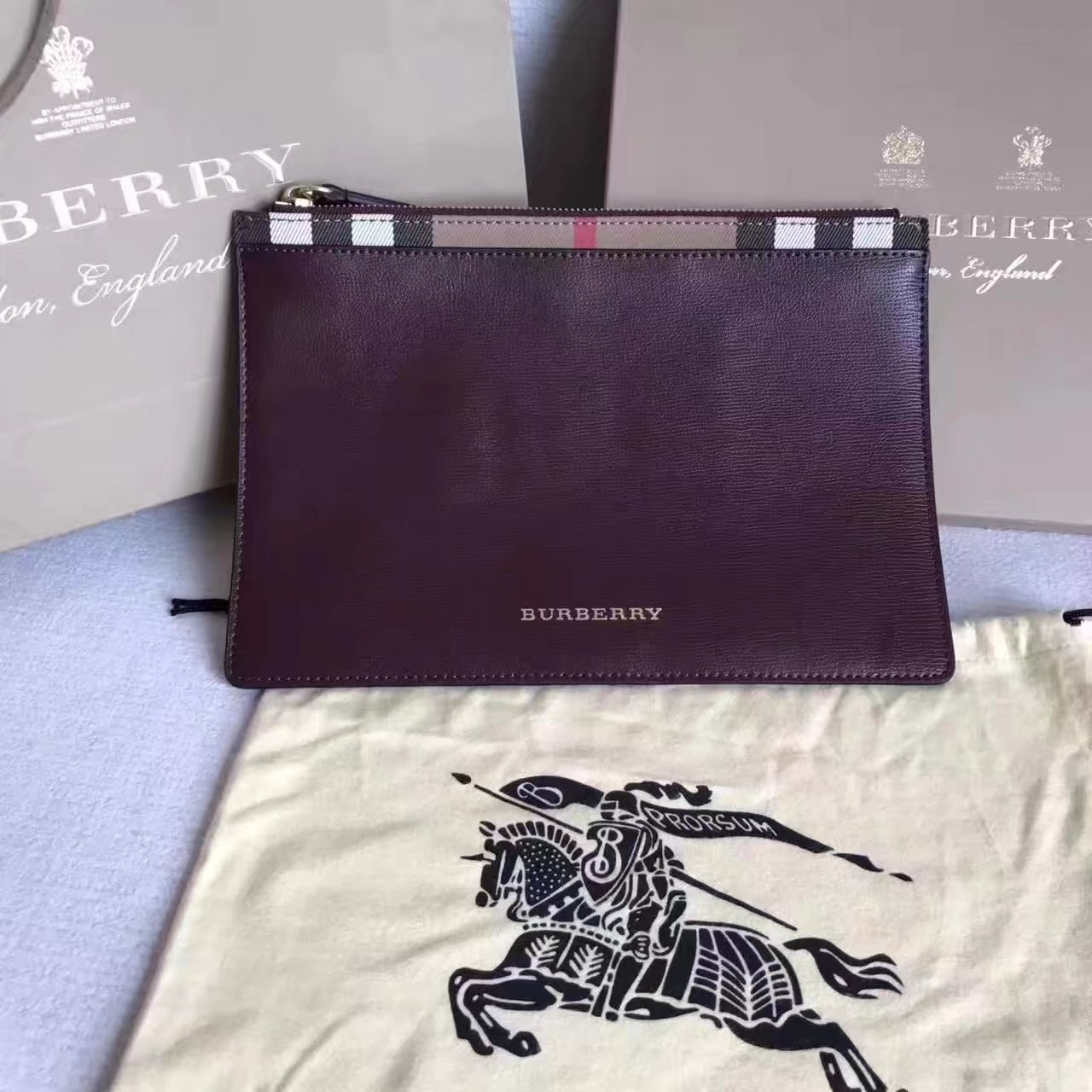 Burberry 2017 New Leather Clutch Bag