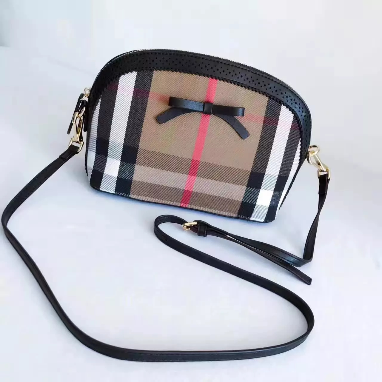 Burberry Hourse Check Mini Orchard Crossbody Bag Black