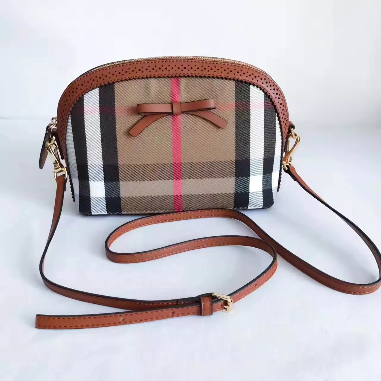 Burberry Hourse Check Mini Orchard Crossbody Bag Coffee