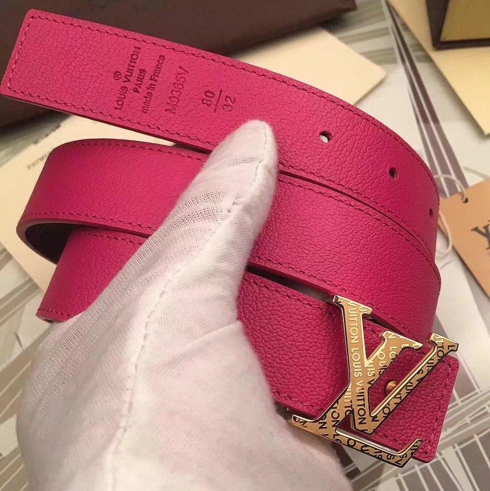 Cheap Louis Vuitton 3cm Reversible Leather Belt 017