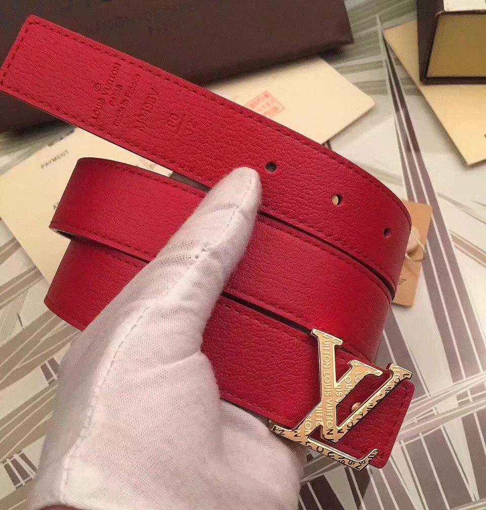 Cheap Louis Vuitton 3cm Reversible Leather Belt 019