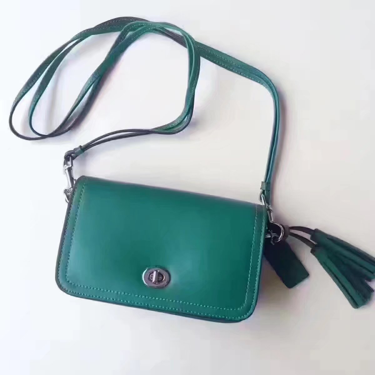 Coach 1941 Dinky In Colorblock Mixed Materials Green
