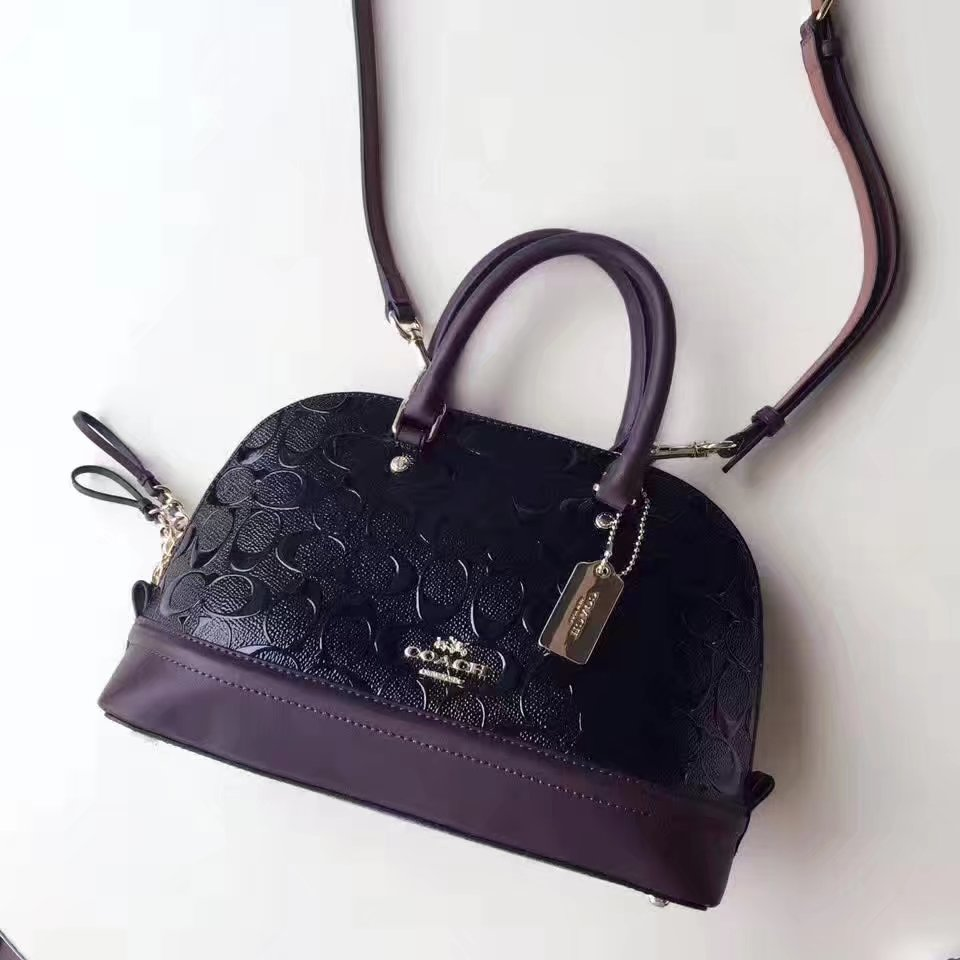 Coach 2017 Signature Leather Tote Bag Black
