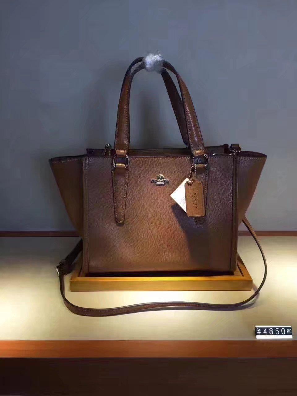 Coach 33537 Brookyln Carryall Tote Bag Light Saddle