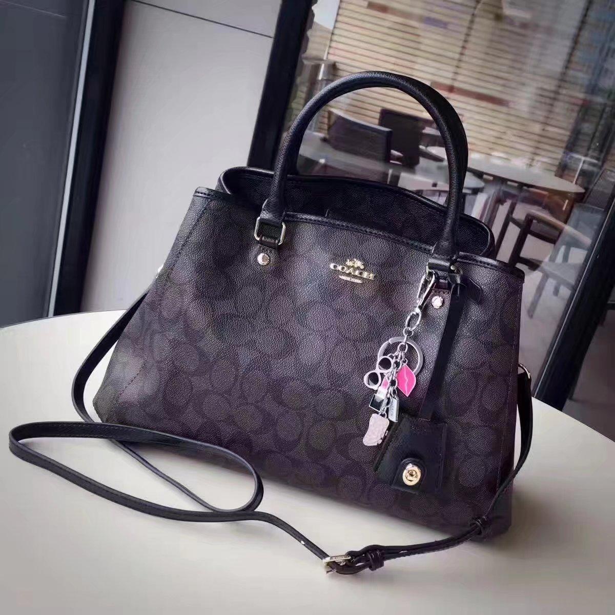 Coach 34608 Women Tote Bag in Signature Jacquard Black