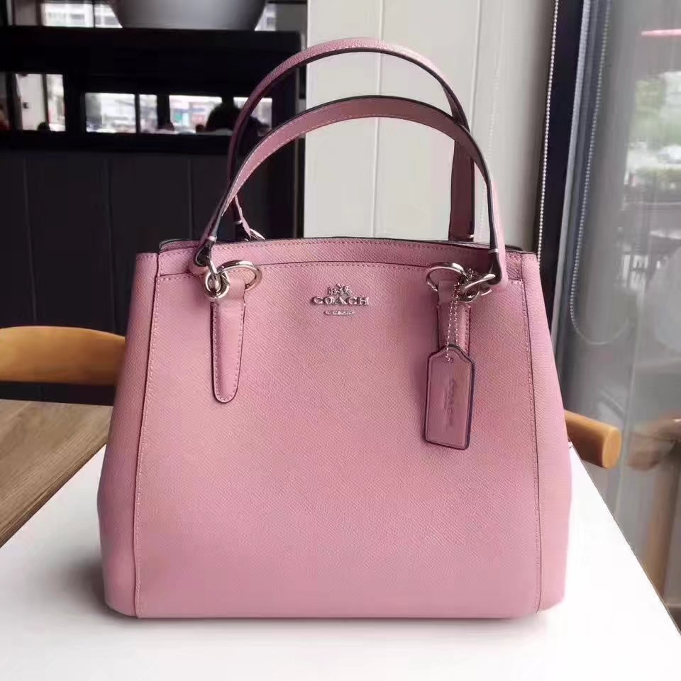 Coach 57847 Women Leather Tote Bag Pink