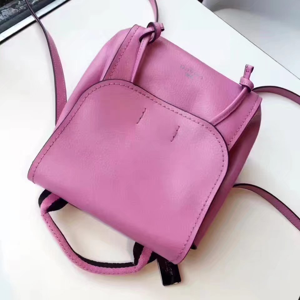 Coach 59819 Women Flap Leather Backpack in Pink
