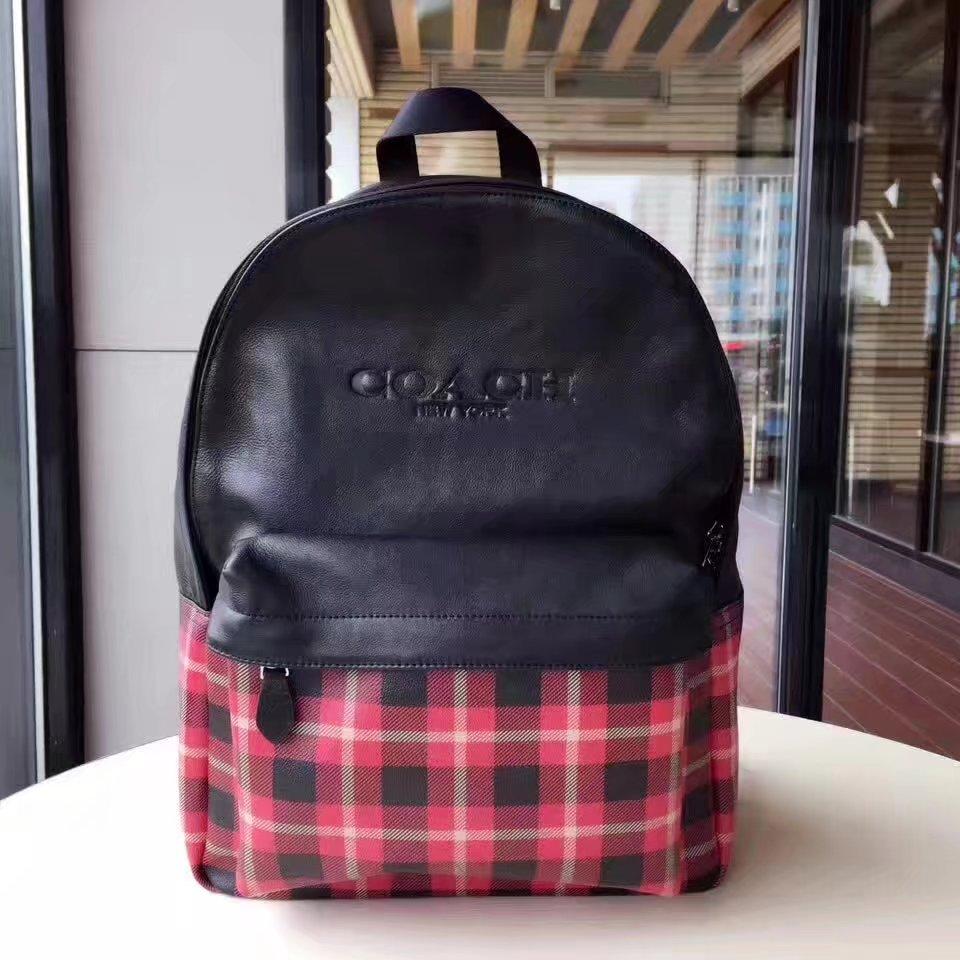 Coach F55394 Scotticize Men Leather Backpack