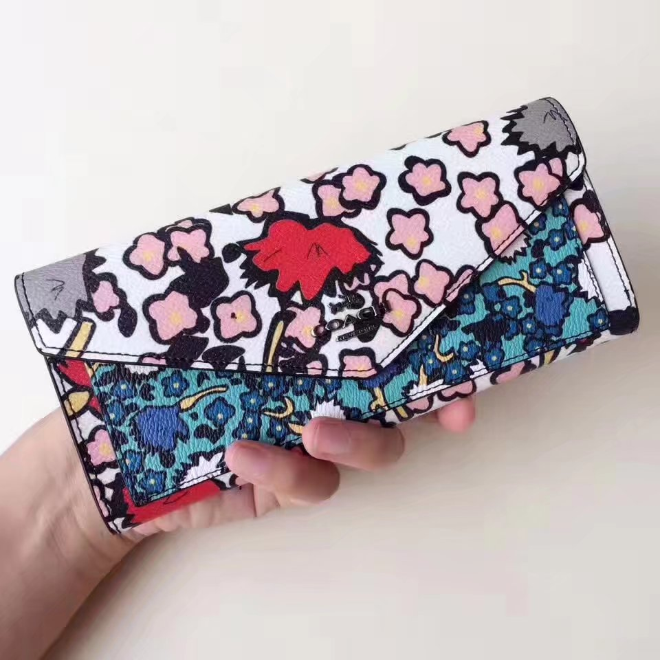 Coach Yankee Print Women Leather Wallet