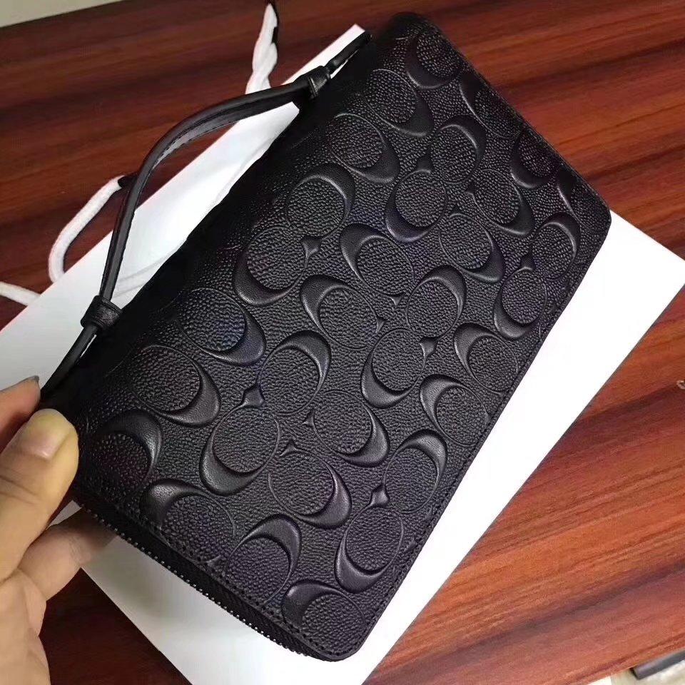 Cocah Signature Double Zipper Men Clutch Bag Black