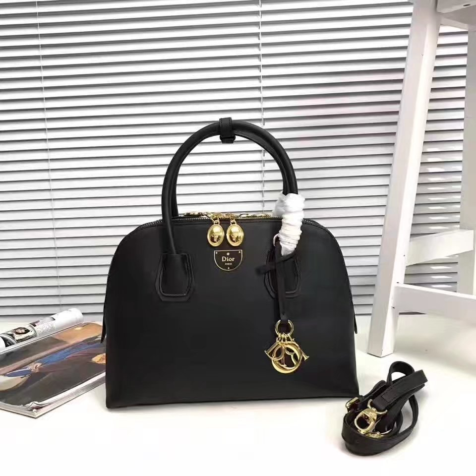 Dior Leather Tote Bag Black