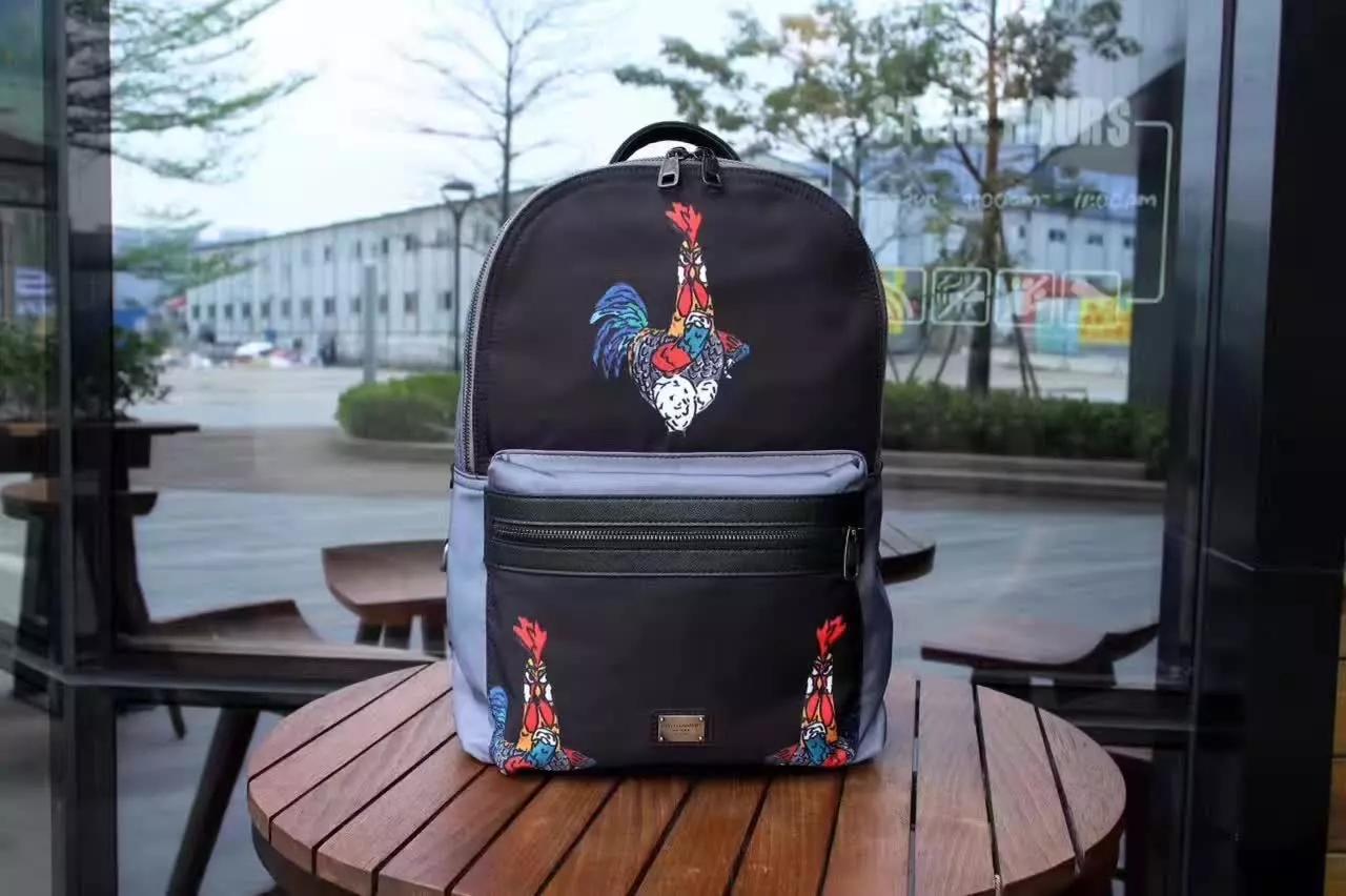 Dolce & Gabbana Men Vulcano Backpack in Printed Nylon Black
