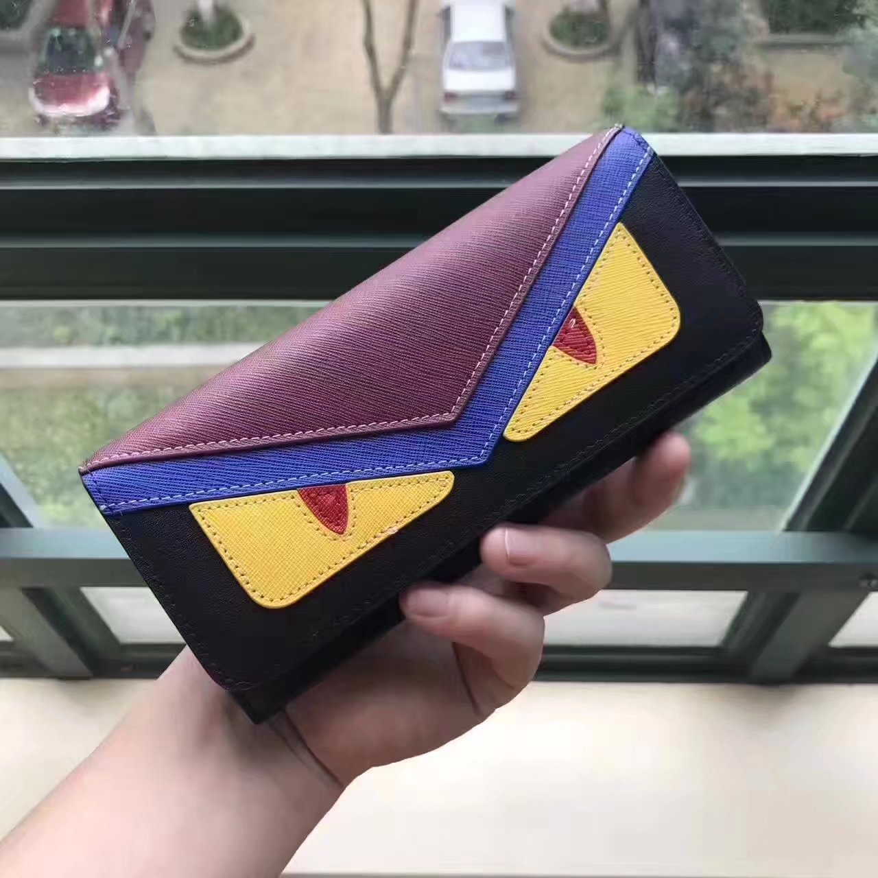 Fendi Continental Wallet in Black Leather