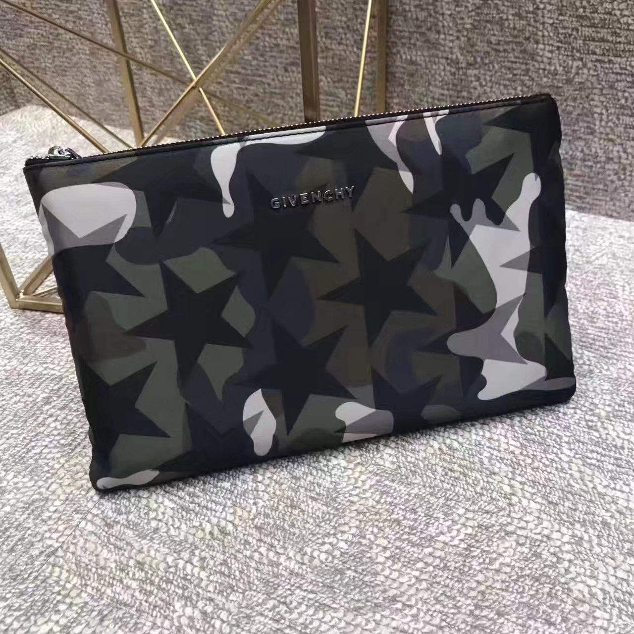 Givenchy 2017 Camouflage Men Clutch Bag
