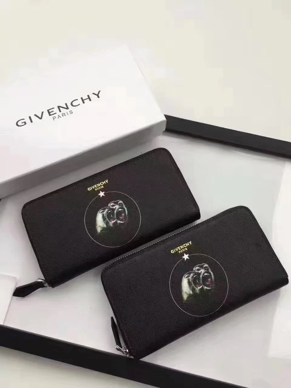 Givenchy G8004 New Zip Wallet Black