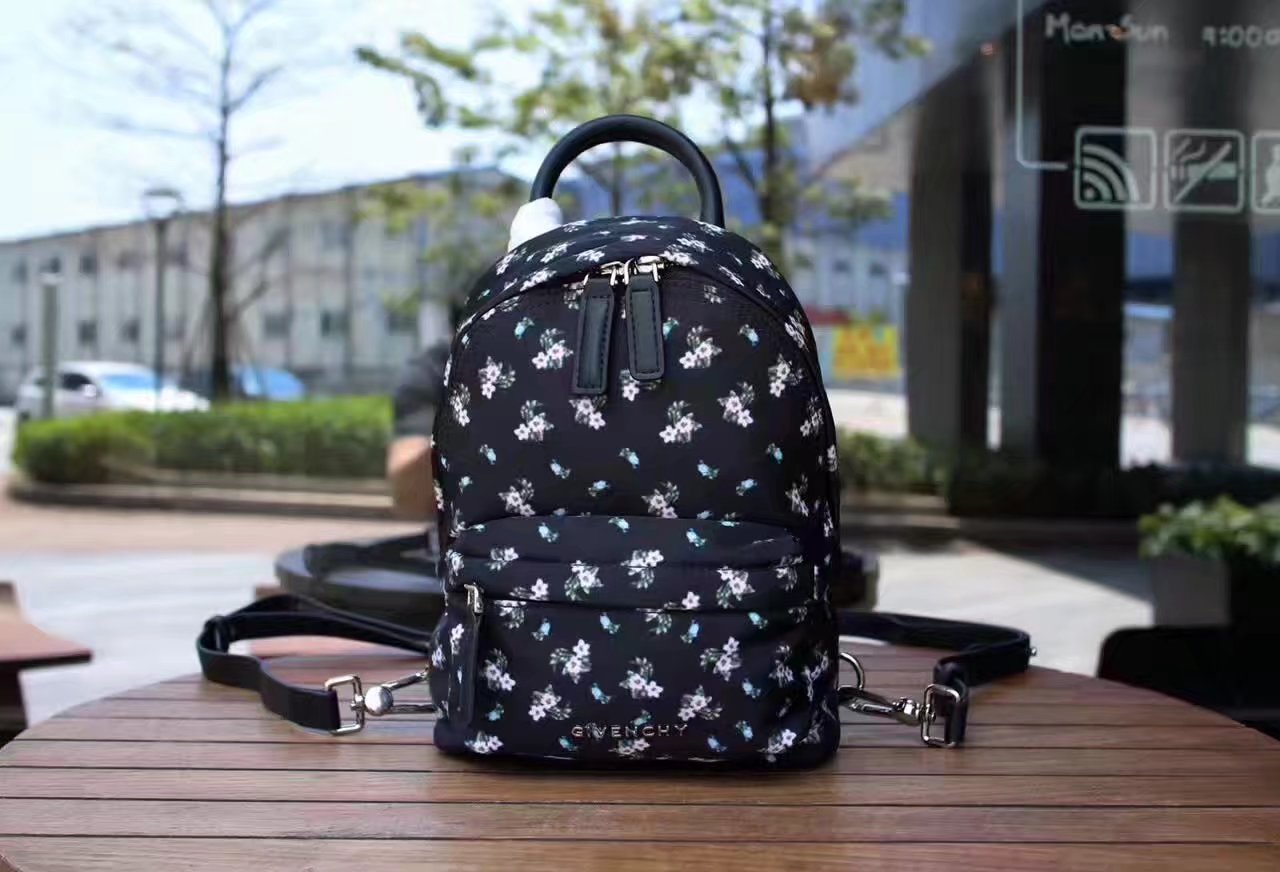 Givenchy Nano Printed Backpack in Black