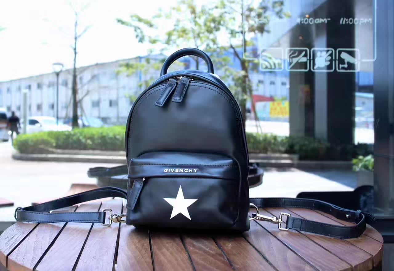 Givenchy Nano Star Leather Backpack Black