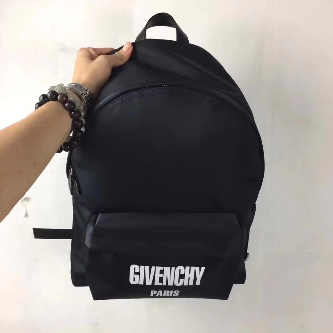 Givenchy Paris Printed Backpack Black Canvas Men Backpack