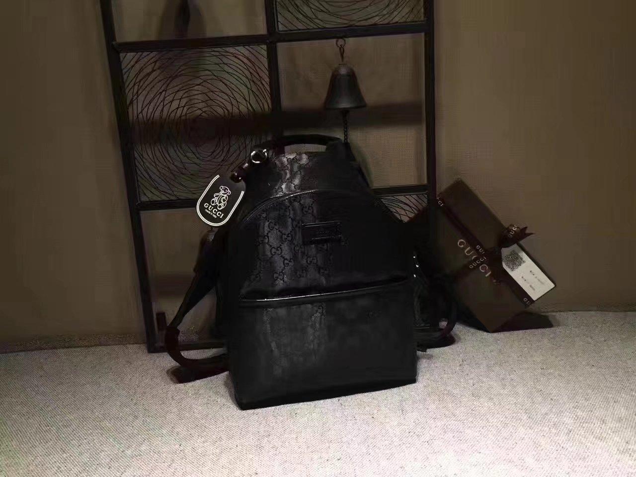 Gucci 271327 Children's GG Supreme Women Backpack Black