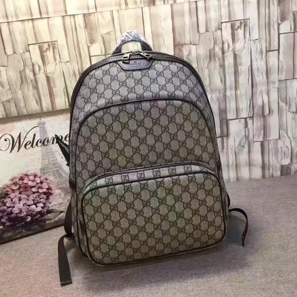 gucci book bags for men. gucci 322069 coffee gg supreme men backpack book bags for c