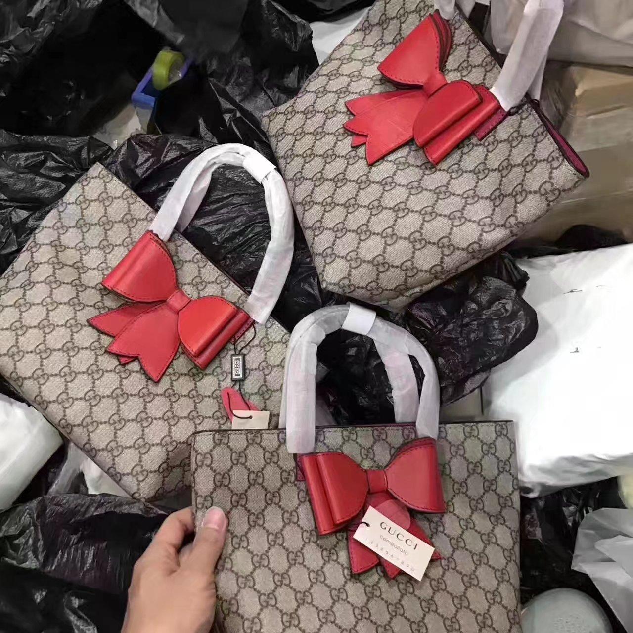 Gucci 410812 Children S Gg Ducks Tote Bag