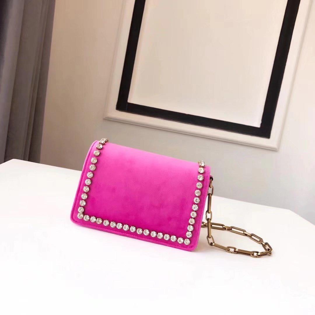 Gucci 489218 Broadway Pink Velvet Mini Bag