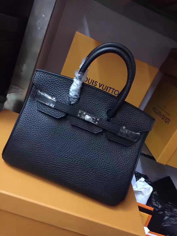 Hermes 25cm Birkin Togo Calfskin Handbag Black