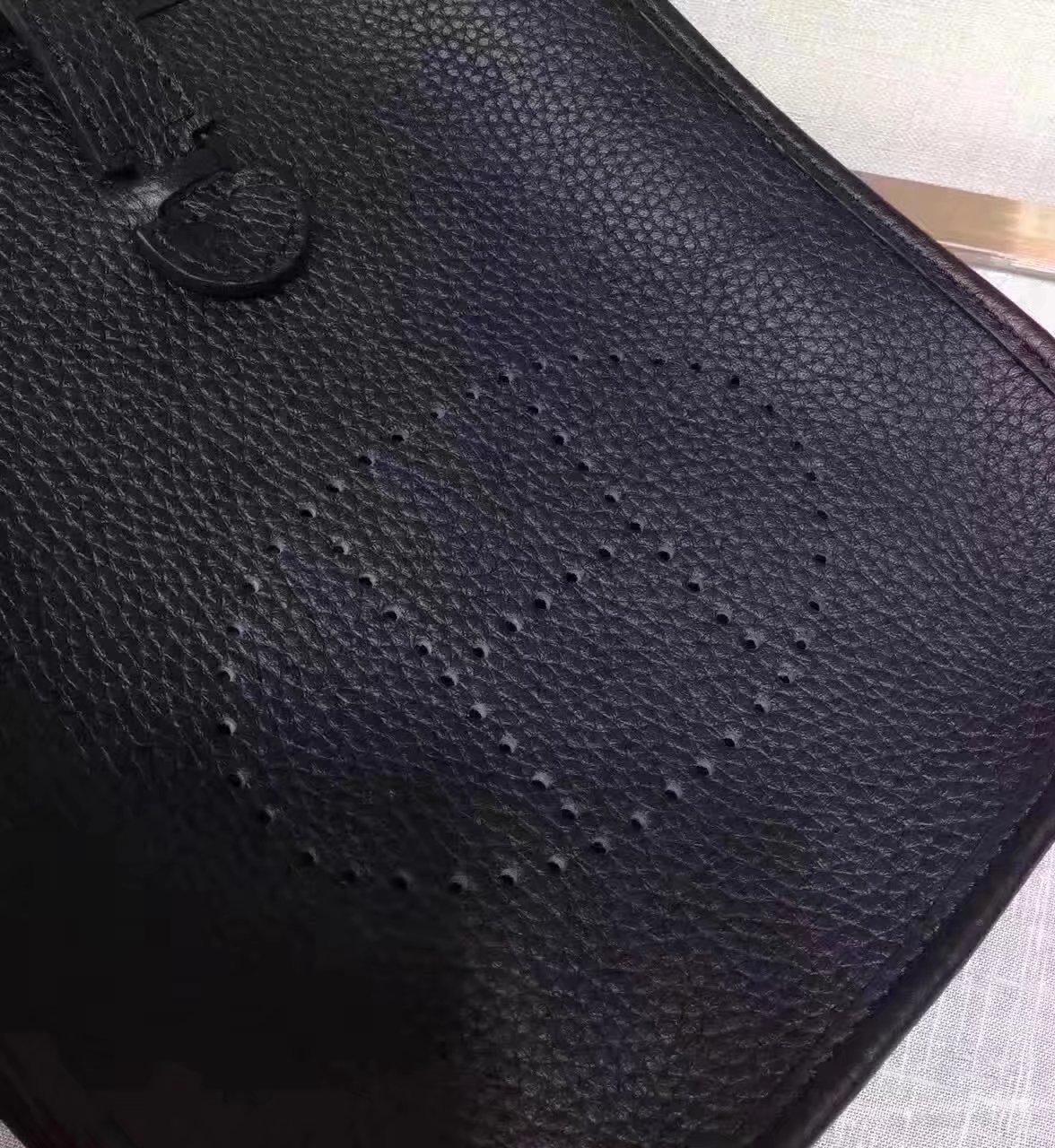 Hermes Evelyne Mini Leather Bag Black