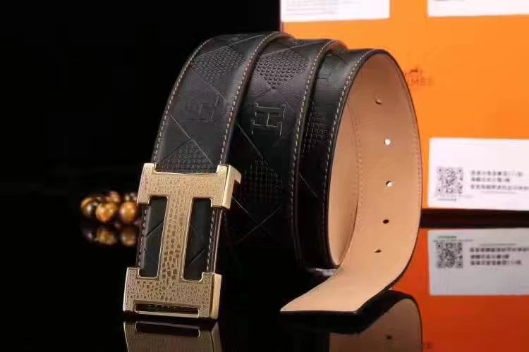 Hermes Leather Reversible Brown Belt With H Logo Buckle 005