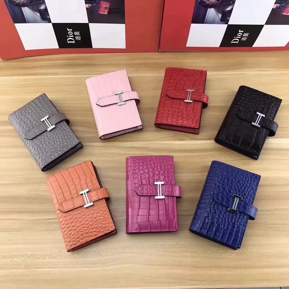 Hermes Women Card Wallet Crocodile Leather More Color