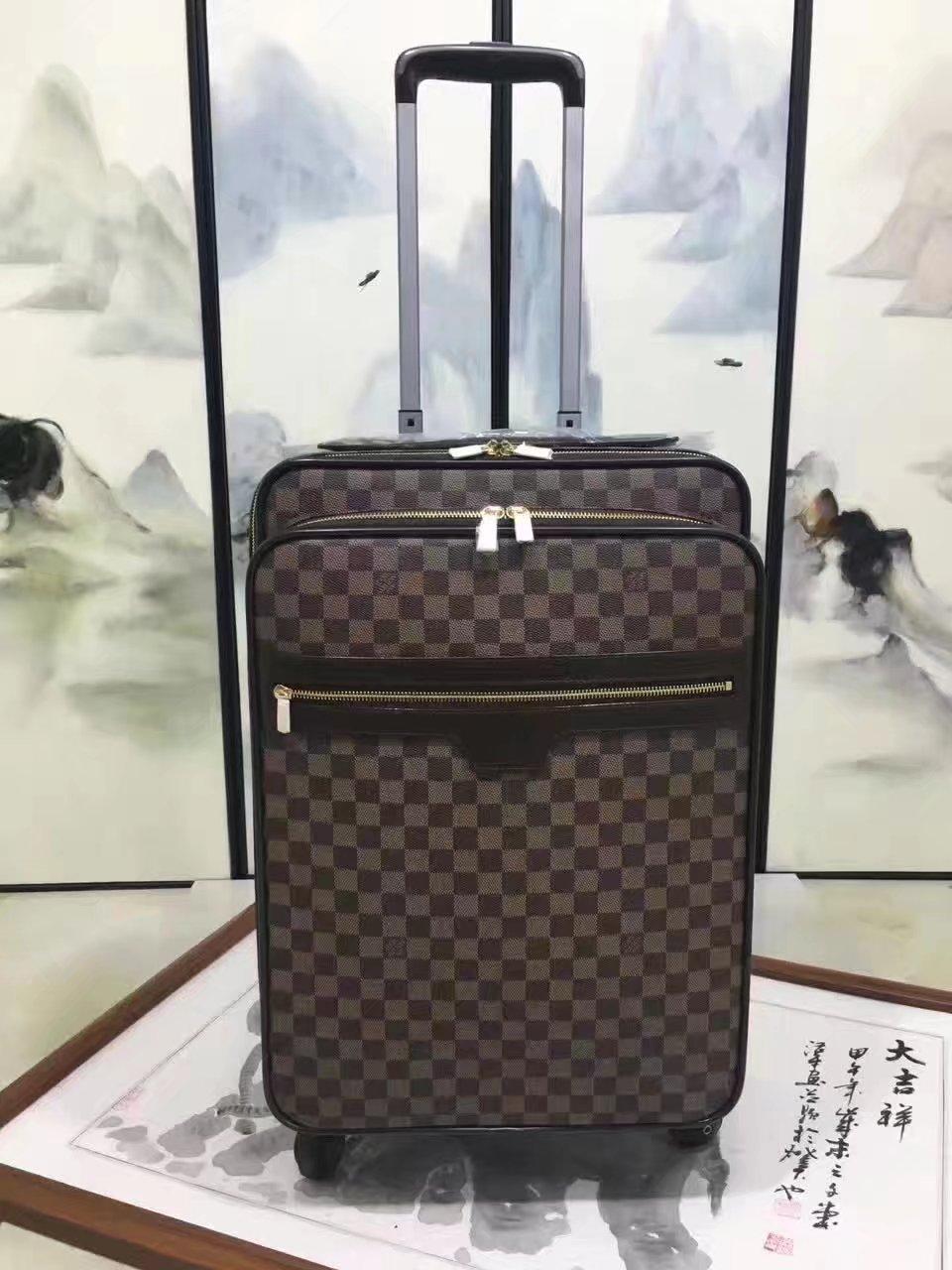 Louis Vuitton 55 Luggage Damier Ebene Canvas