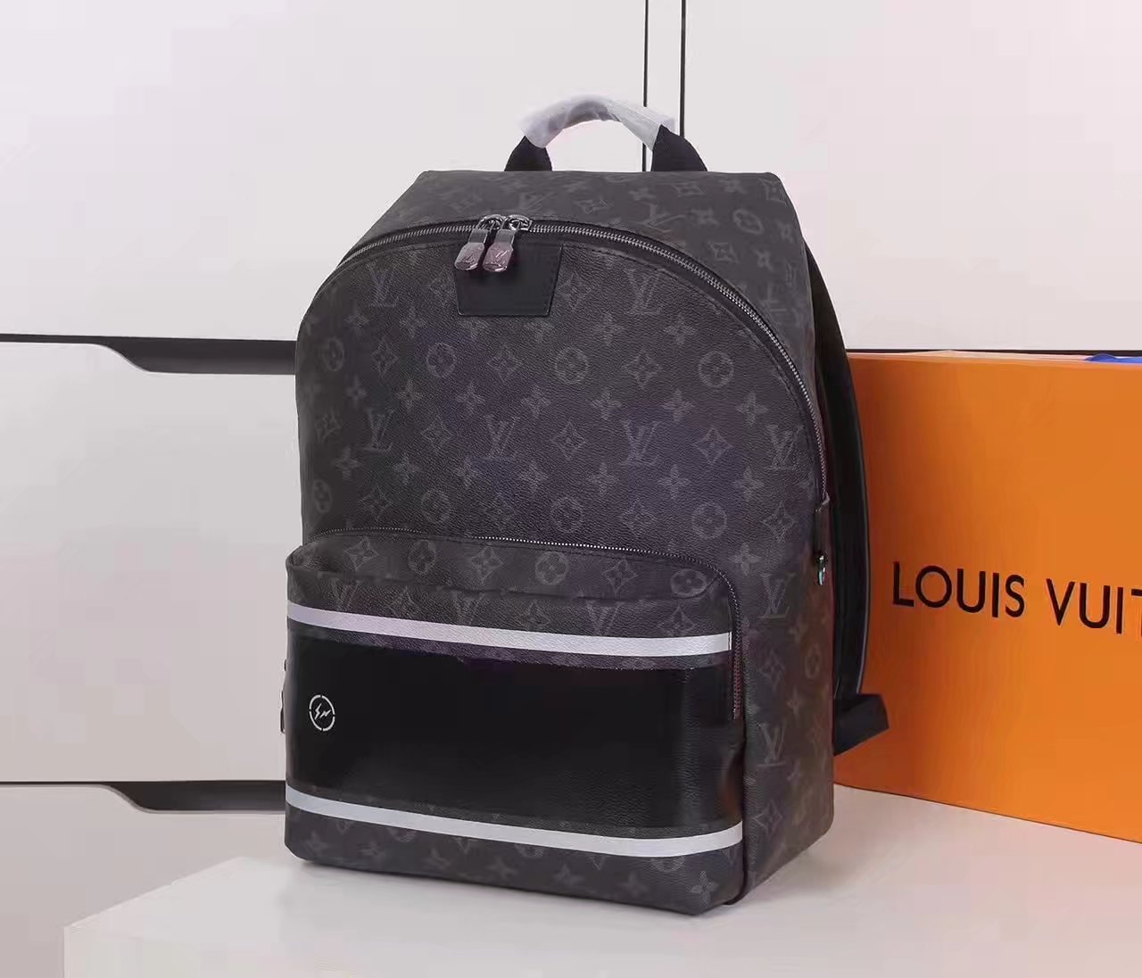 Louis Vuitton M43408 Apolo Backpack Monogram Eclipse Coated Canvas