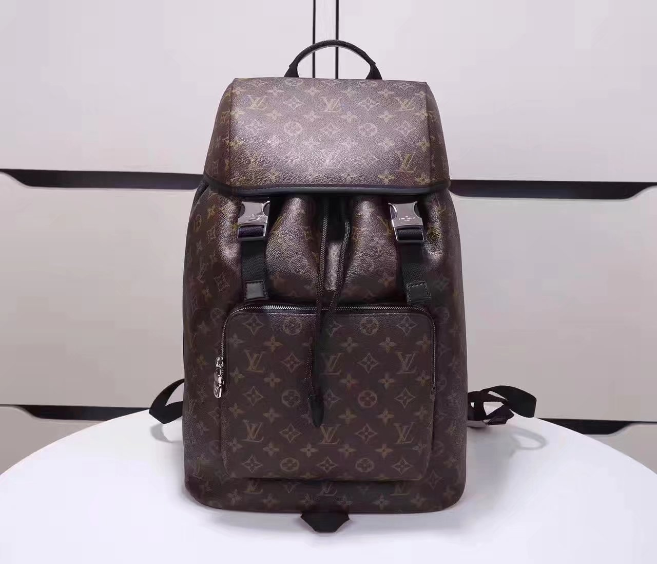 Louis Vuitton M43422 Zack Backpack Coated Canvas Exterior