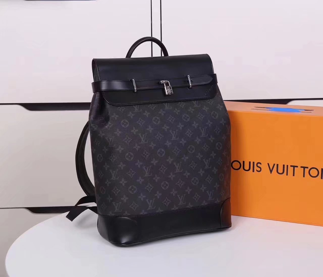 Louis Vuitton M44052 Steamer Men Backpack Supple Epi Leather
