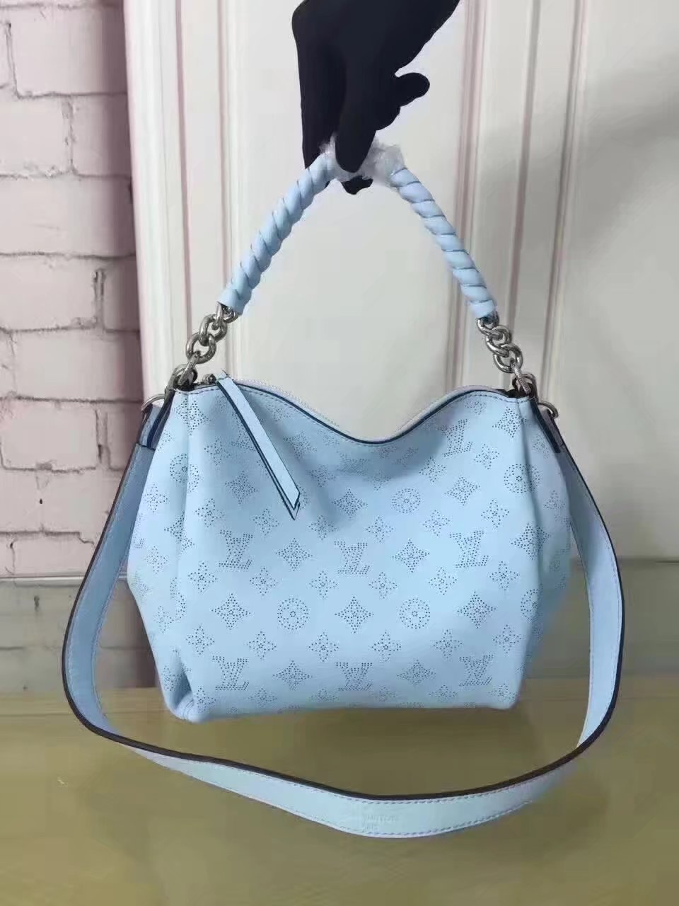 Louis Vuitton M51223 Babylone Chain BB Blue Top Handle