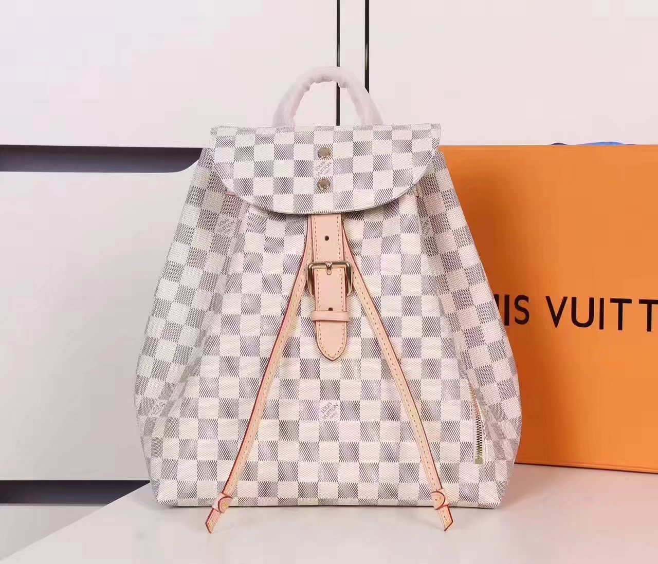 Louis Vuitton N41578 Sperone Backpack Damier Azur Coasted Canvas Exterior
