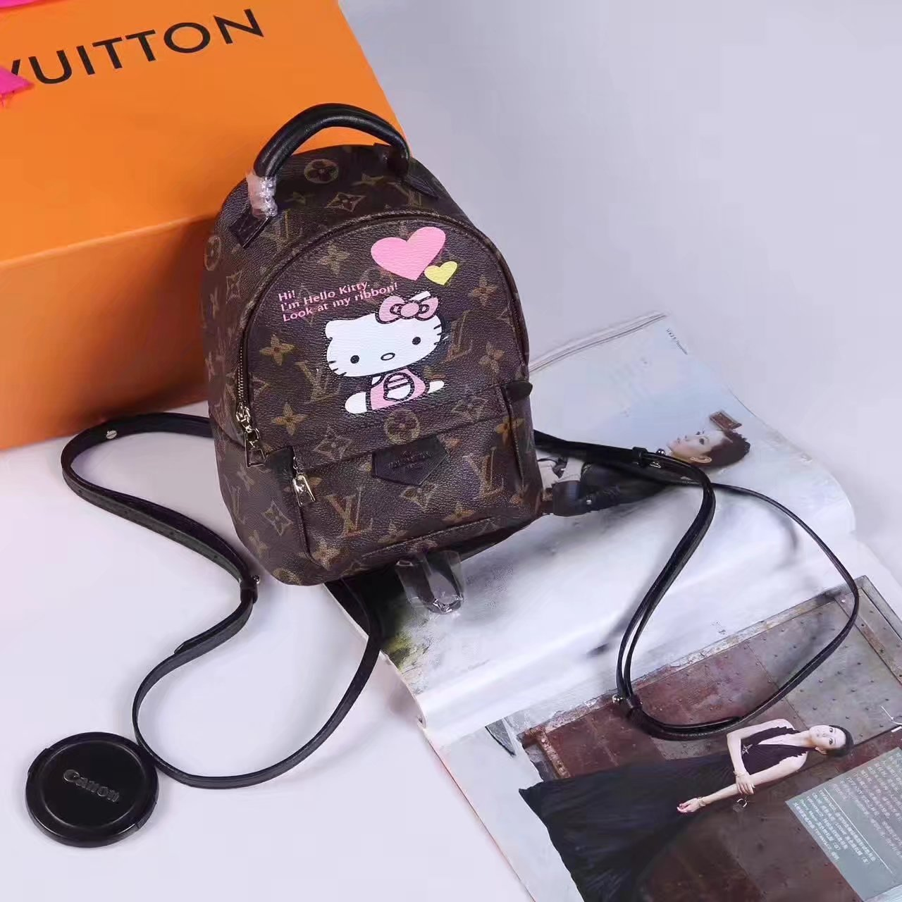 Louis Vuitton N44026 Hello Kitty Backpack Monogram Canvas