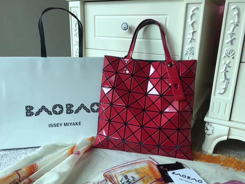 Issey Miyake Bao Bao BB53-AG053 Shopping Bag Red