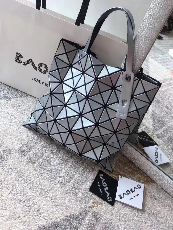 Issey Miyake Bao Bao BB53-AG053 Shopping Bag Silver