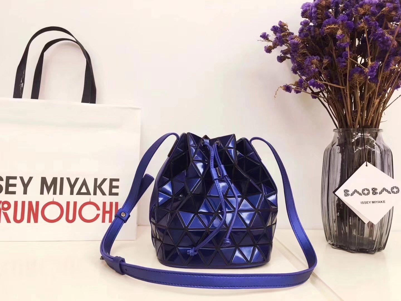 Issey Miyake Bao Bao BB71-AG271 Lander Bucket Bag Blue