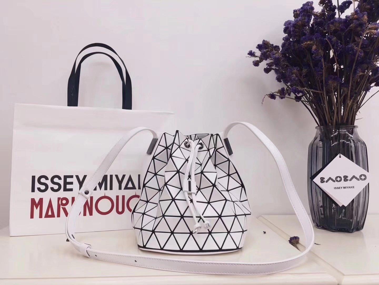 Issey Miyake Bao Bao BB71-AG271 Lander Bucket Bag White